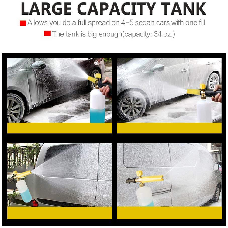 Adjustable Foam Cannon Adapter for Snow Foam Lance