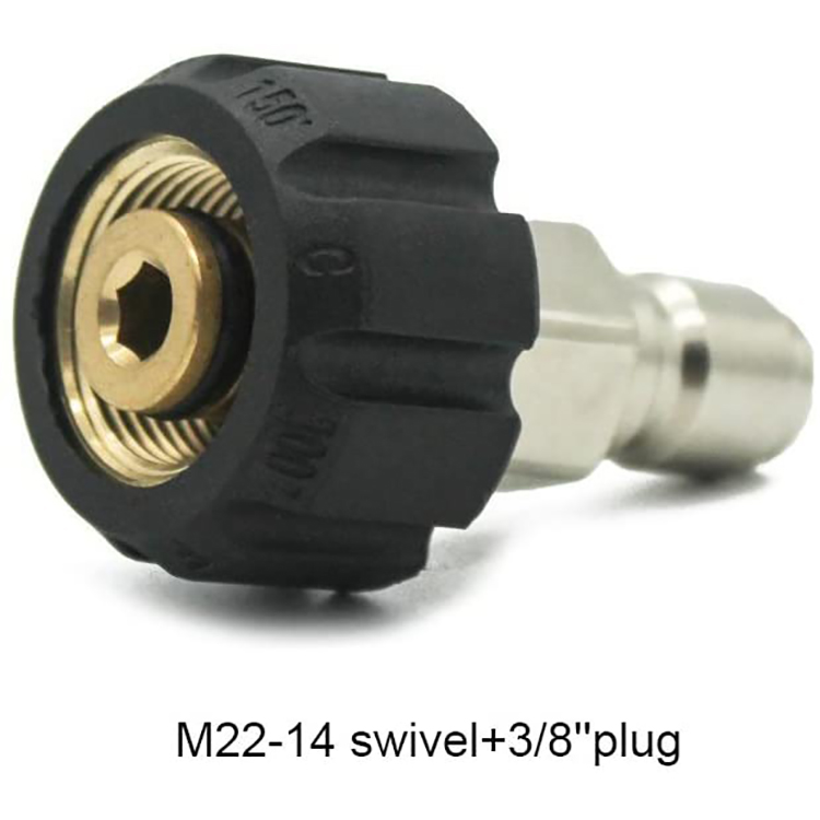 M22-14 Swivel To 3/8 Plug Car Cleaning Machine Quickly Connect Adapter